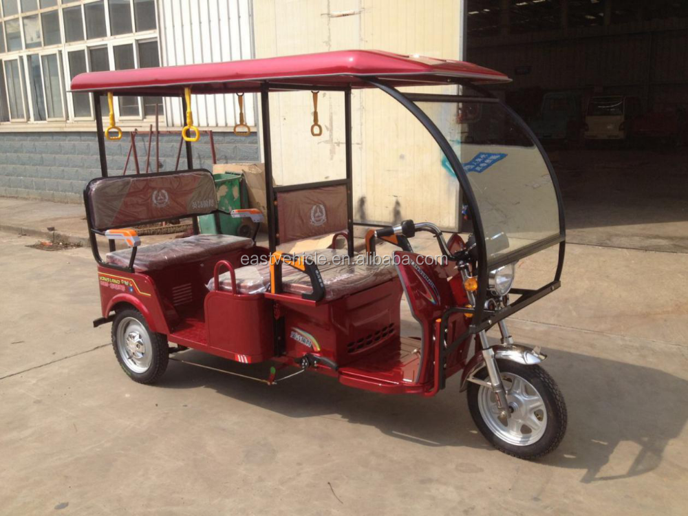Indian Type Adult Electric Rickshaw Moblity Scooter for 6 Passengers Tuk Tuk/Taxi for Passenger