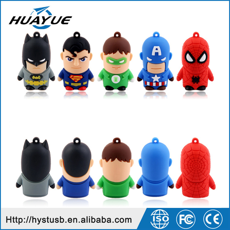 Spider Bat man superman 2.0 8gb 16gb usb flash drive give away gift usb 3D Printing 32gb usb flash drive