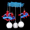 Children bedroom boy spiderman cartoon creative lamp lanterns on water environmental protection paint