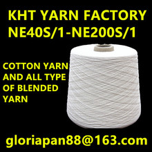 40s 50s 60s 80s 100s 120s 100% cotton yarn combed compacty dyed gassed mercerized cotton yarn