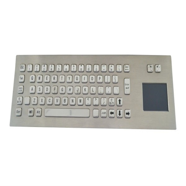 IP65 metal keyboard with touch pad