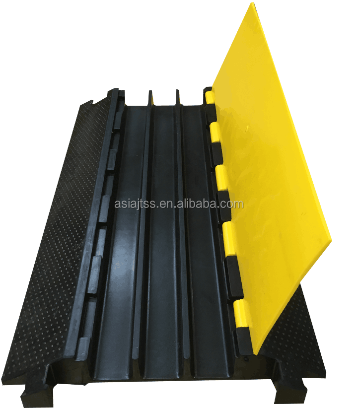 Heavy Duty 3 Channel Rubber Cable Protector Bridge