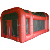 Funny inflatable Bazooka Ball Saloon Shooting Gallery for sale