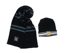 charming sport hat and scarf, knitted hat and scarf set