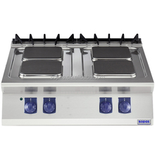 sopas Restaurant Kitchen Equipment 900 series Stainless Steel Commercial Countertop 4 burner Electric Hot Plate