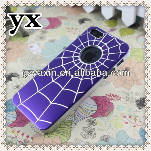 Mobile phone cases from competitive factory,spider web protective hard cell phone cases for iphone5