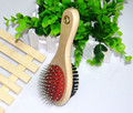 Wooden pet hair brush for dog hair removal