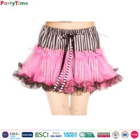 Partytime brand women mini fancy skirt top designs
