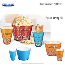 Custom printed Popcorn Bucket Plastic Popcorn Bowl Double wall Popcorn container