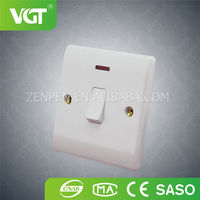 Wholesale High Precision 86*86MM two gang one way electrical switch