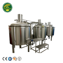 220V 380V Micro Brewing Equipment Steam Heated Brewhouse