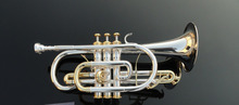 Wholesale Professional brass trumpet, being cornet, BB cornet, silver plated cornet double press the key
