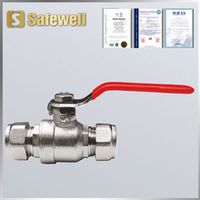 Compression Lever Ball Valve CxC WRAS Approved