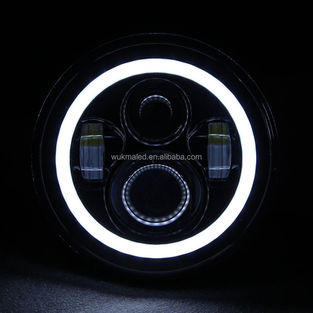 7 inch Universal 4 Projectors LED Headlight For Wrangler Harley Toyota FJ Cruiser LandRover Defender With Halo Ring
