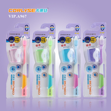 Double-colour nano toothbrush with fashion cap wholesale toothbrush