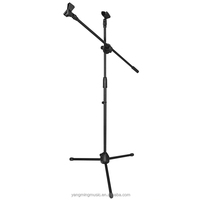 Adjustable Tripod Double Microphone Holder Stand
