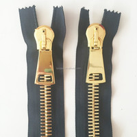 continuous custom antique metal zipper/china manufacturer no. 8 metal zipper