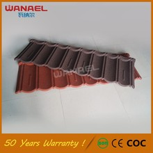 Wanael Building Materials House Roof Model No Fade Zinc Corrugated Roofing Sheets