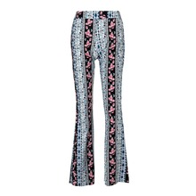 F20305A Ladies fashion trousers design women's vintage clothing floral printed palazzo pants comfortable loose pants for ladies