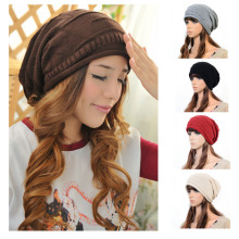FANCY WOMEN MEN PLICATE BAGGY BEANIE KNIT CROCHET OVERSIZED SLOUCH HAT SKI CAP