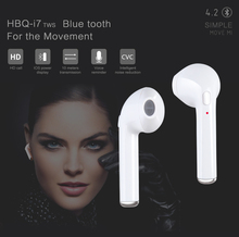 HBQ i7 TWS Twins True Wireless Earbuds Mini Bluetooth V4.2 DER Stereo Headset Sports Headphone