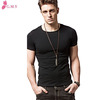 new fashion men blank short sleeves slim fit t shirt replica clothing for summer