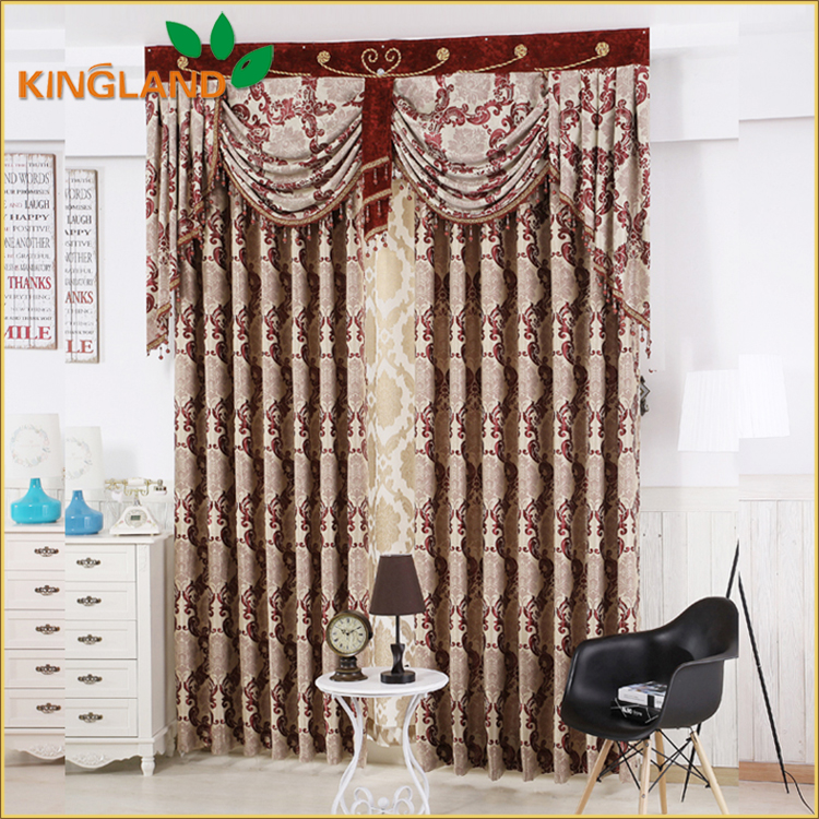 Luxury 100% Polyester Jacquard Blackout Curtain For Canada Curtain Drape