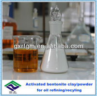 Activated bentonite clay for lubricant refining/recyling