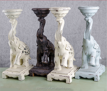 Resina prodotti per la casa decorativi antico <span class=keywords><strong>elephant</strong></span> candle holder