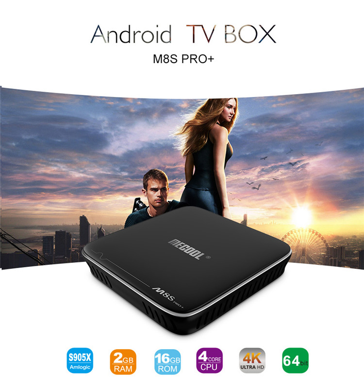 Hot Selling Ram 2GB Rom 16 GB Amlogic S912 Android7.1 Octa Core M8SPRO tv box