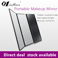 Three Sides Foldable Vanity Girl Hollywood Makeup Mirror