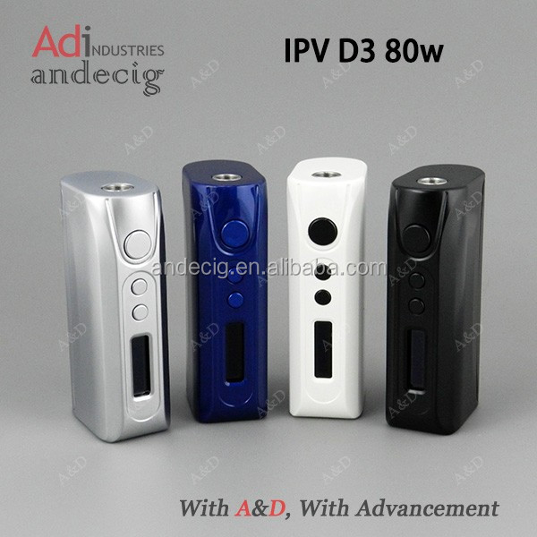 2015 newest mod vape iPV D3 80w box mod/newest mod iPV D3 80w box mod/iPV3 Li 200w box mod vape in different colors