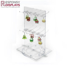 Countertop acrylic keychain accessories display rack in retail store