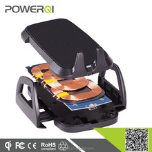 Qi enabled wireless charger 3 coil with air vent mount and dashboard mount,high quality car accessories for wholesaler