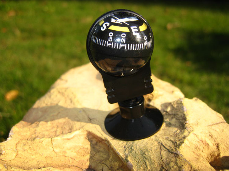 Hot Selling Suction cup adjustable seat suction dual usage compass ball,CZA-004 Car Compass