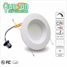 6 inch cri90 warm white retrofit LED recess gimbal ring trims 13w led downlight cob
