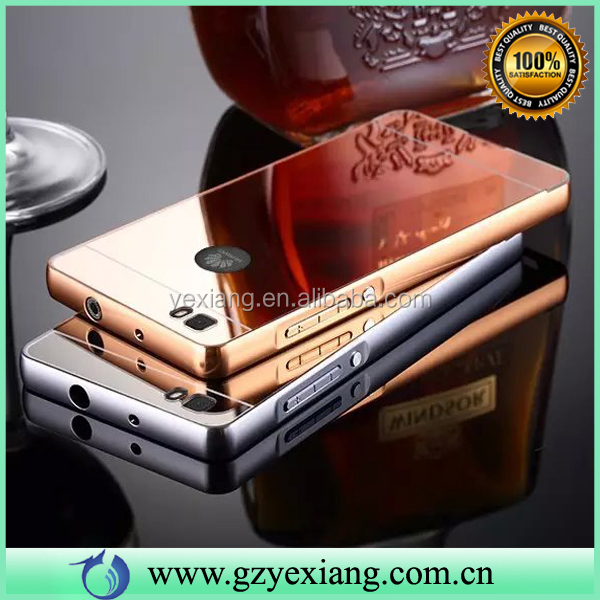 Hot Sale Cell Phone Metal Aluminum Bumper Case For Huawei Y625 Luxury Mirror Cover