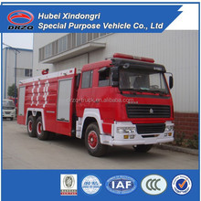 Sino truck HOWO 12ton heavy duty fire trucks for sale in europe