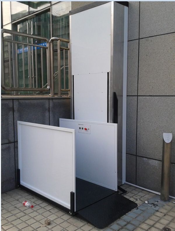 1-6m height 250kg hydraulic lift for disabled people home small lift