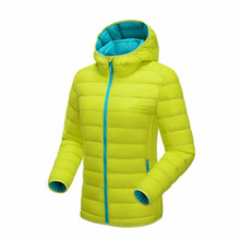 New design ultra light women reversible duck down jacket with hood