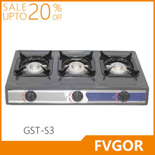 GST-T18 FVGOR hot sale 3 burner pellet stove with gas stove Kompor stove