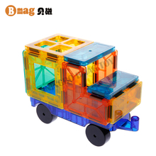 BSCI factory BPA FREE ABS non-toxic clear plastic blocks building magnetic construction toy