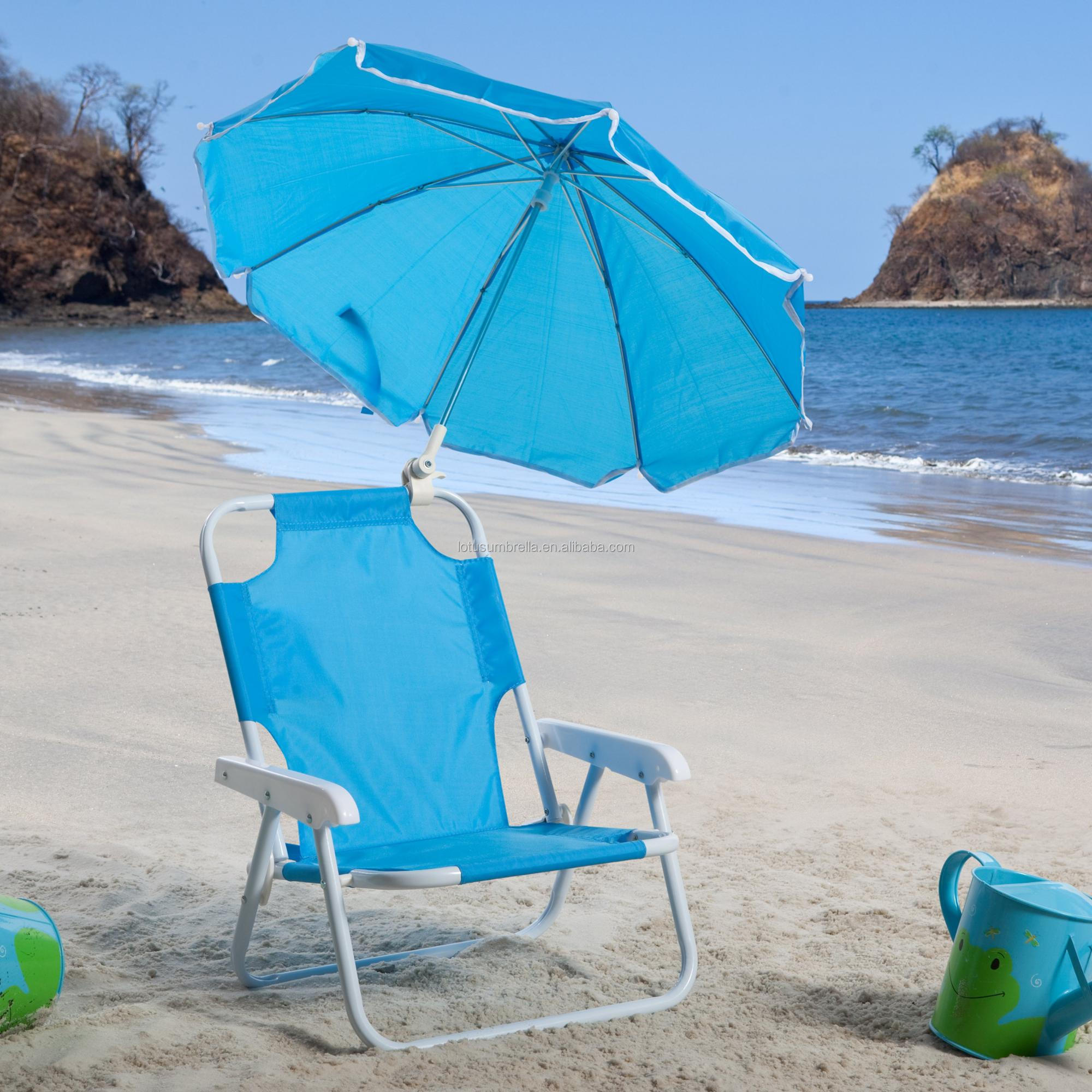 Quality Chinese Products Clamp Style Chair Umbrella for Beach Folding Chair