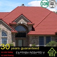 factory 2016 New Design Colorful Stone Coated Metal Roofing Tile with Good Pirce