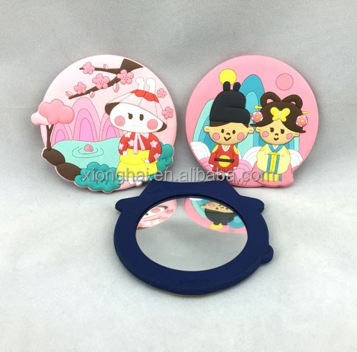 Customized 3D Soft PVC Cute Mirror