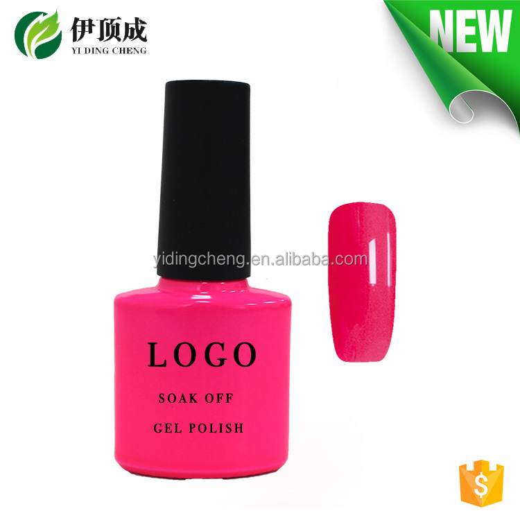 YDC green style soak off color UV gel polish with private label