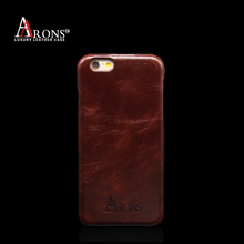 China hot selling genuine oil leather phone back case for iphone6/6s