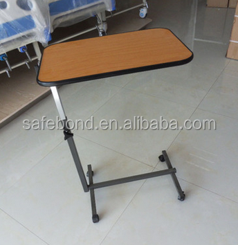 China Manufacturer Medical Dining Table/ Hospital Over Bed Table