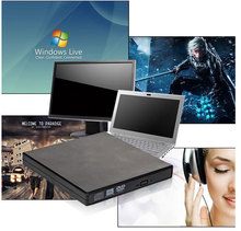 2017 Hot Sale External Black USB Slim 8x DVDRW DL DVD CD RW ROM Burner Writer Drive Optical All PC High Quality COMBO