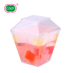 Most popular disposable plastic 3.8oz dessert cups with lid